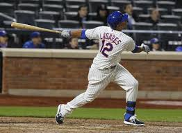 Juan Lagares had a field day in game 1 including his first two career stolen bases