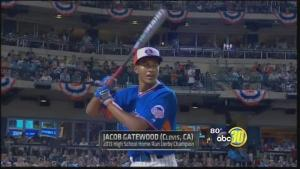 Jacob Gatewood showed fans and scouts alike the power he possesses in the Home Run Derby last July
