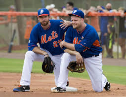 Davis and Duda have been battling for the first base position for  two years now. (Photo by NY Daily News)